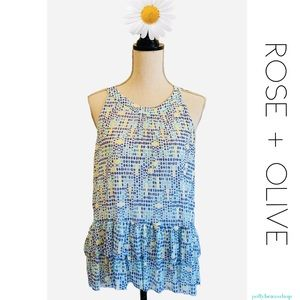 ROSE + Olive Sleeveless Blouse Top New 🌷